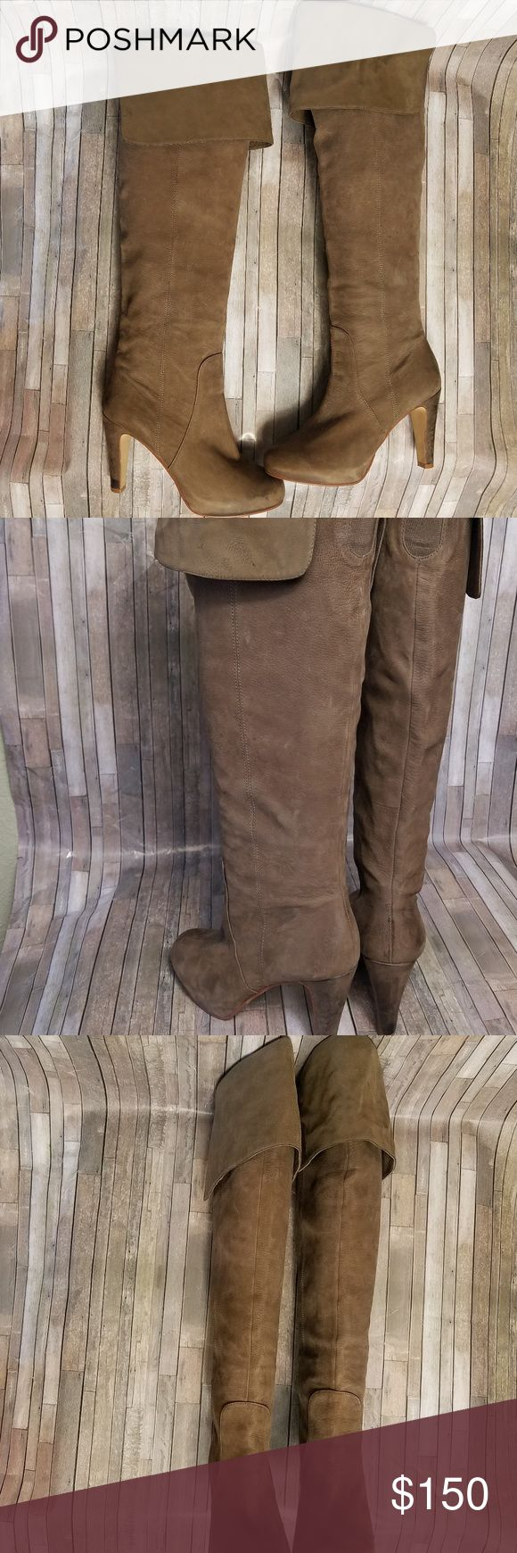 Aldo Cayoosh Thigh high leather boots Sz 6.5 This listing is for a pair of Aldo Thigh high leather boots. The boot heel height is 3 1/2 inches The boot size is a 6.5 There are a few small spots on the boot that are barely noticeable. spots are noted in the photos. Aldo Shoes Over the Knee Boots