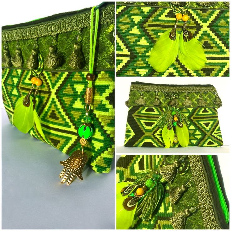 """Clutch pistacho""... divine!!! designed Miss G Bags @Wayuucolombia Barcelona, available"