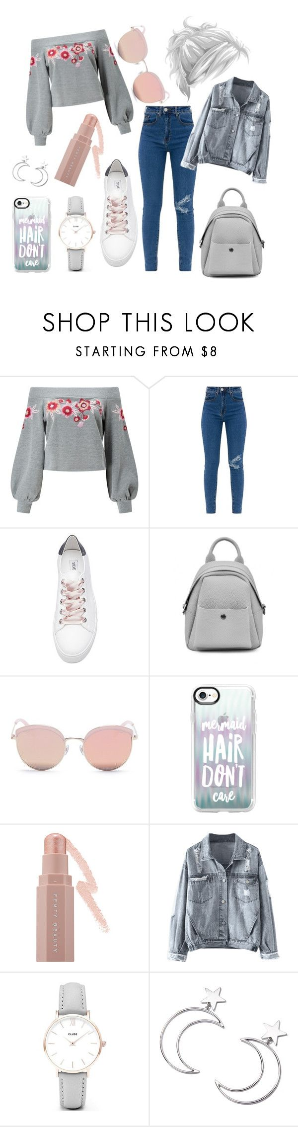 """Untitled #329"" by inesgenebra on Polyvore featuring Miss Selfridge, Steve Madden, Stephane + Christian, Casetify, Puma, CLUSE and Ana Accessories"