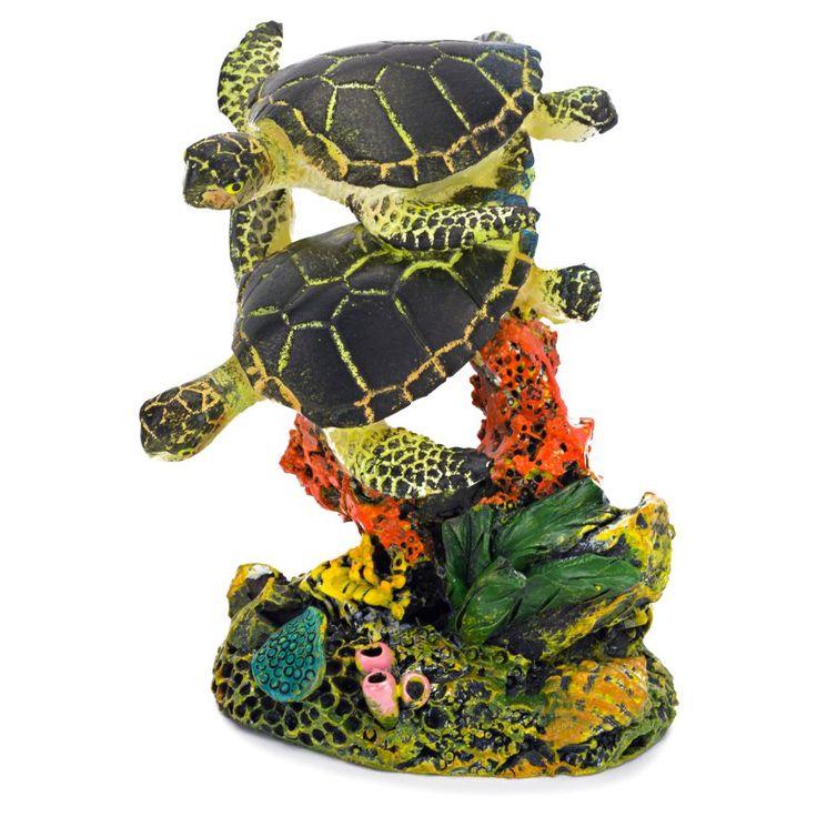 Penn Plax Swimming Sea Turtle Aquarium Figure - Small - 1.75L x 2.75H in. - RR1109