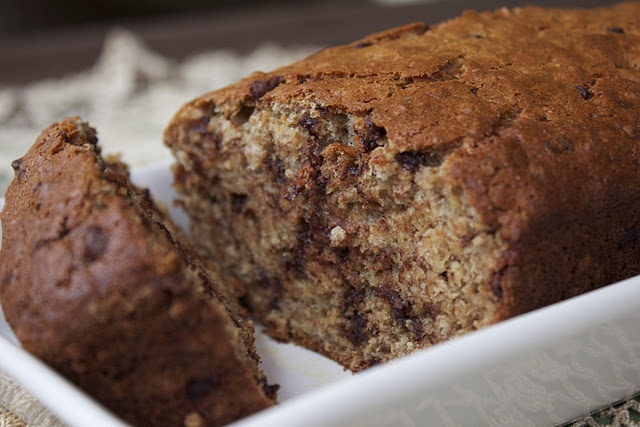 Low Fat Chocolate Chip Banana Bread