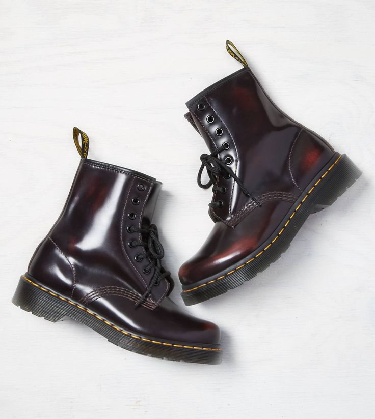 Red Dr Martens 1460 Boot Shoes Pinterest Cold