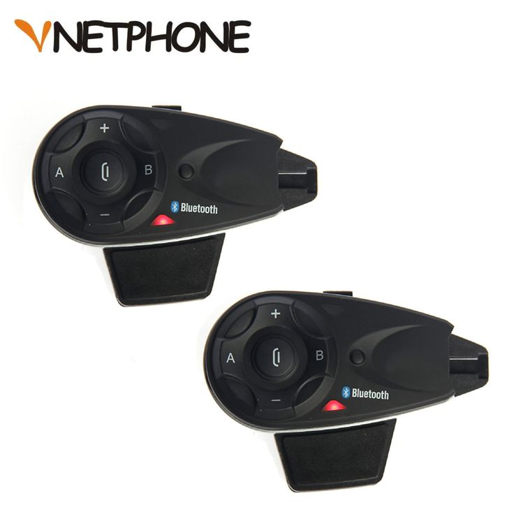 ==> [Free Shipping] Buy Best 2pcs  Vnetphone V5 1200M 5 Riders Bluetooth Motorcycle Helmet Intercom Interphone Headset Talk at same time Wireless Connection Online with LOWEST Price | 32807855516