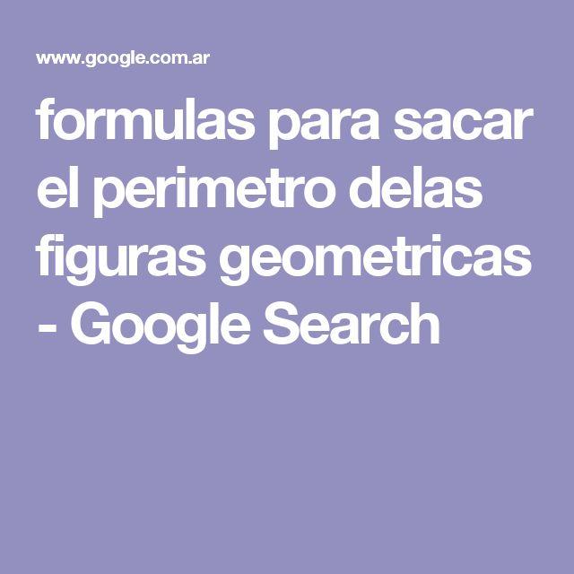 formulas para sacar el perimetro delas figuras geometricas - Google Search