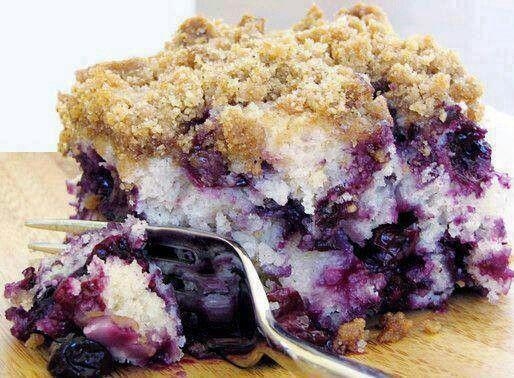 Blueberry crumb coffee cake.