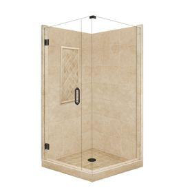 American Bath Factory�Panel 86-in H x 36-in W x 42-in L Medium Square Corner Shower Kit