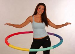 My new FAVE way to exercise!  I just got my 4 lb. weighted Hula Hoop for working out at home ... love it!