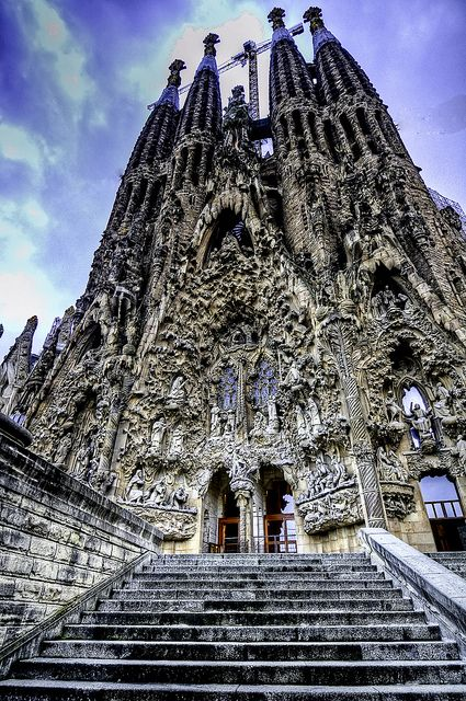 Sagrada Familia, Barcelona. Saw this beautiful place over the summer. Would love to go again.