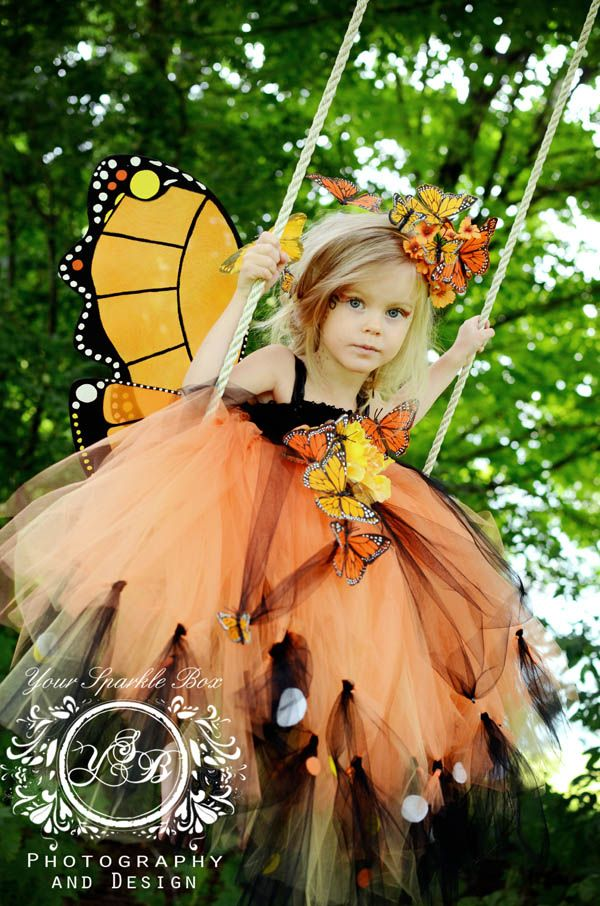 Monarch Butterfly Tutu Dress for a fairy themed birthday party or Halloween!!!