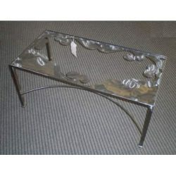 Table wrought iron. cm 50 x 100 x h 45 . 696