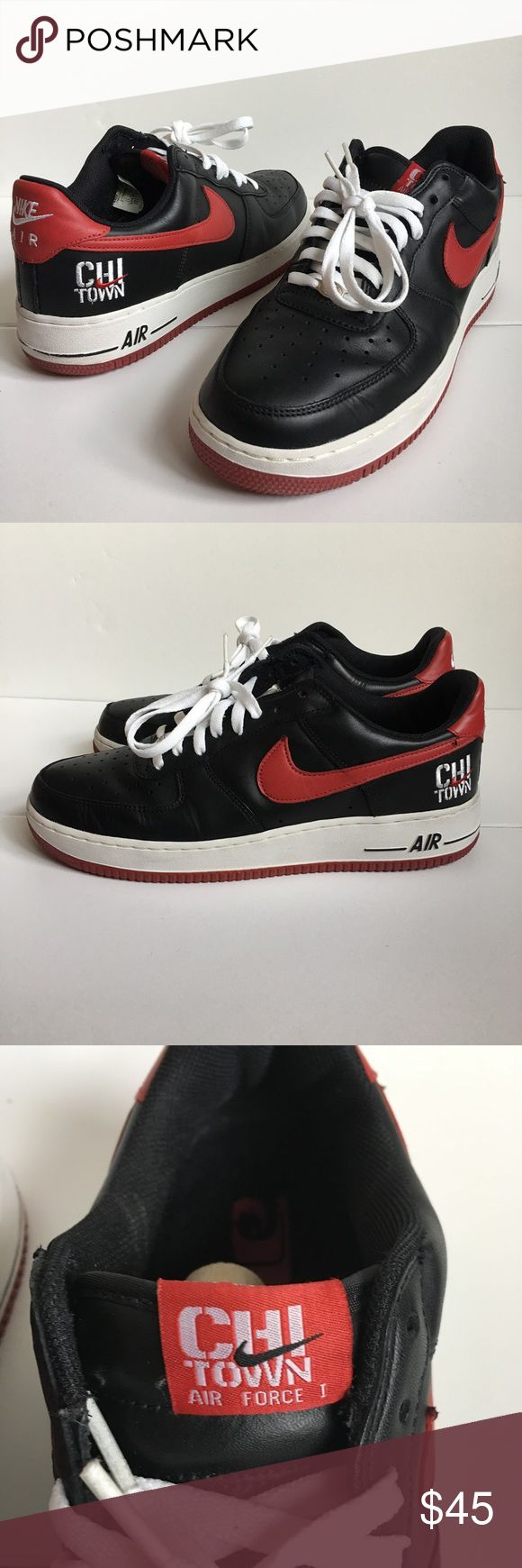 "Nike Air Force 1 Low ""Chi Town"" men's size 11 Nike Air Force 1 Low ""Chi Town"" men's size 11. Great condition. Comes in Original box. Nike Shoes Sneakers"