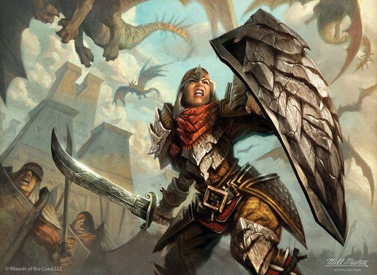 "Egypt Warrior Illustration Anubis Pyramid Fantasy Art: ""Dragonscale General"" Artwork For Magic: The Gathering"