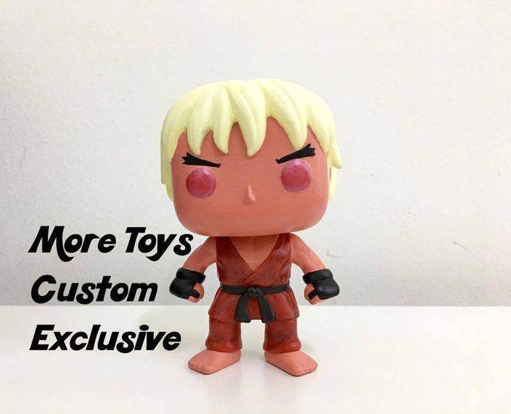Custom Funko Pop Asia Street Fighter Violent Ken Pop Vinyl Hand Painted