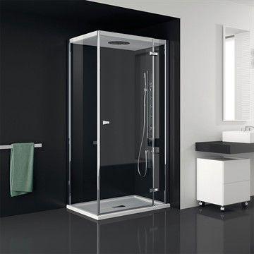 Duschavskärmning Chapeau i glas med inbyggd huvuddusch. #interior #bathroom