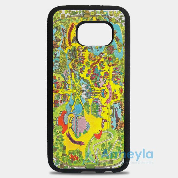 Vintage Walt Disney World Map Fantasyland 1971 Samsung Galaxy S8 Plus Case | armeyla.com