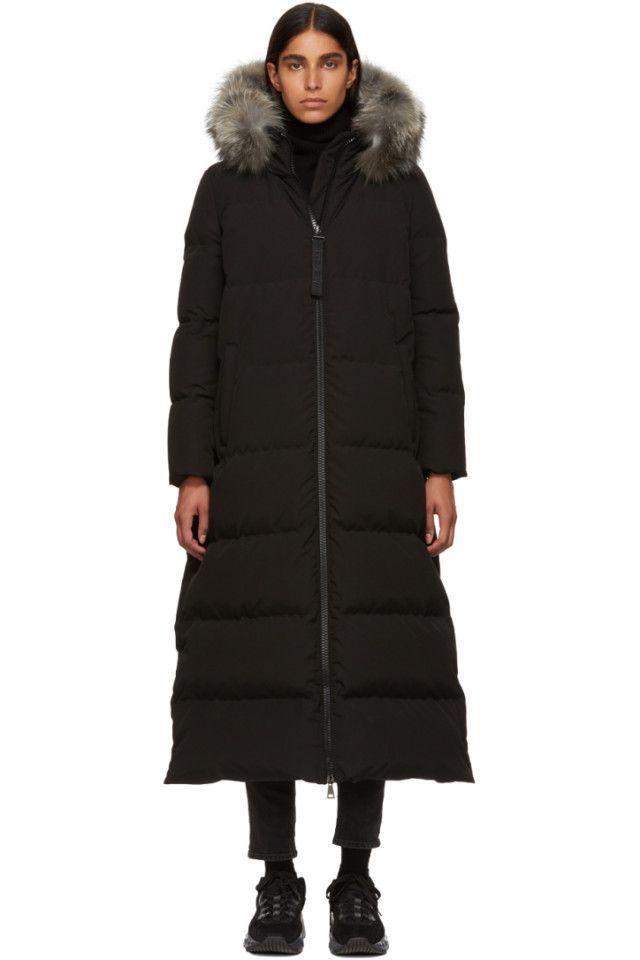21ae7c05d Moncler - Black Fur Bernache Down Coat   MONCLER   Coat, Down coat ...