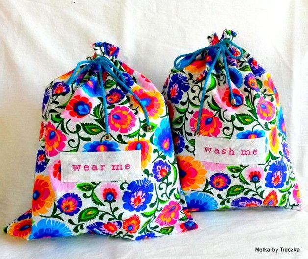 Łowickie Bags - blu - torebki podróżne na bieliznę - Metka-by-Traczka - Biustonosze i majtki