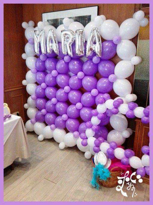 Las 25 mejores ideas sobre pared de globos en pinterest - Decoracion en pared ...