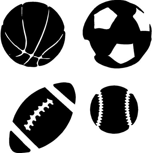 Sports Ball Pack Wall Decals Vinyls Football And Vinyl