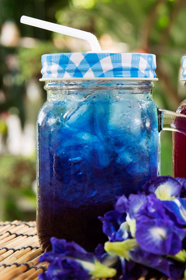 Erst blau, dann lila: Der blaue Eistee wechselt die Farbe. Mit unserem Rezept können Sie den blauen und zuckerfreien Eistee selber machen.