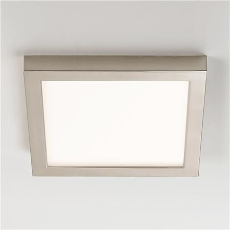 "9"" LED Simple Square Low Profile Ceiling Light for foyer ceiling is only 1"" thick"