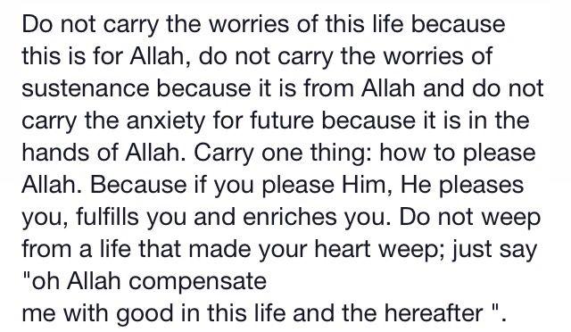 Worries of life