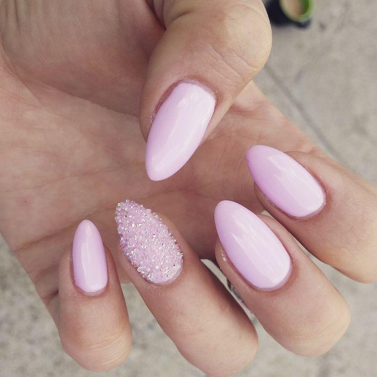 pink nails  svarovski  weeding