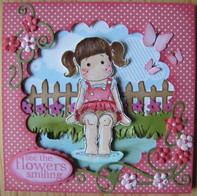 Geburtstags Karte, Magnolia Stamps