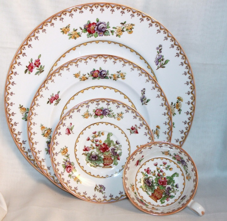 Spode China ~ Peplow ~ 4 Piece Place Setting