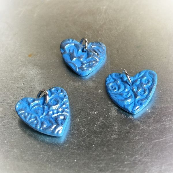OOAK Hand Made Heart Pendants - #5873 | Stall & Craft Collective