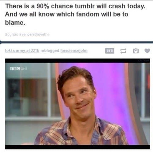 27 Times The Sherlock Fandom Won Tumblr, when you all of them allready know