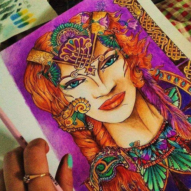 #the13thsign #strażnicynocy #colouringbook #dysis #goddess #colourful #Hestia kolorowac każdy może ☕