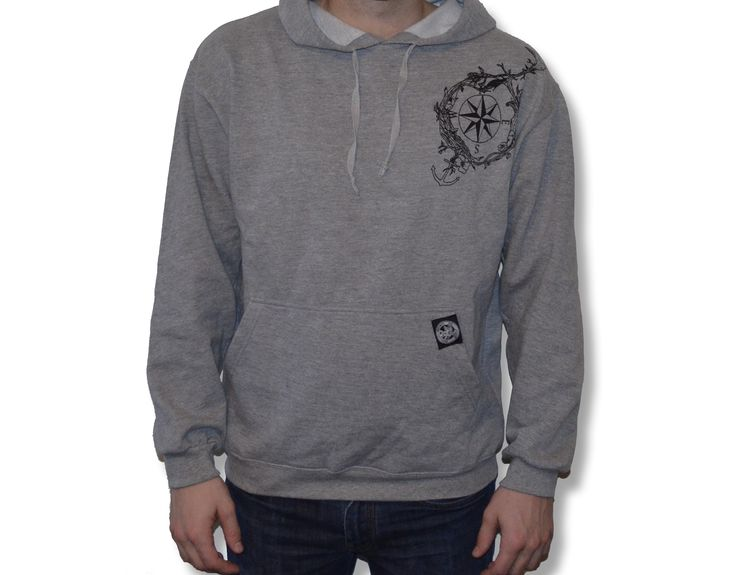 men's compass hoodie• regular fit• open hem stitching details• front and back graphics• woven labels• 100% cottonWhen life's challenges try to pull you down, find your direction and keep rising to the occasion.