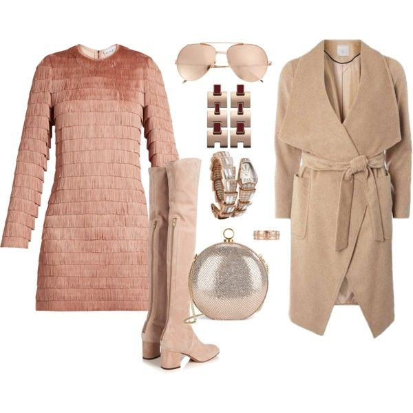 How to...Do cute party winter blush by vicky-angelidou-pappas on Polyvore featuring Raey, Dorothy Perkins, Valentino, Halston Heritage, Tiffany & Co. and Linda Farrow