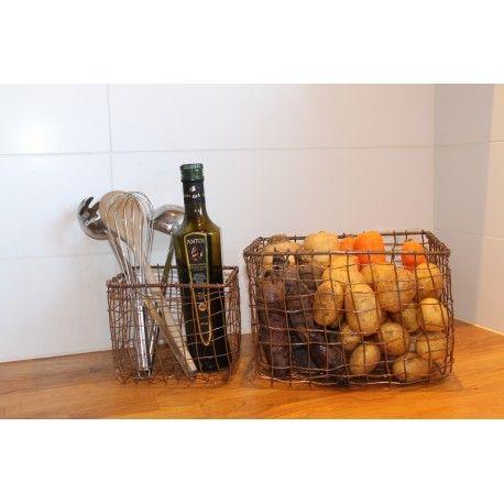 Kurv Deluxe kobber - Lækker kurv i kobber fra House Doctor.  Brug den til opbevaring af fx strikketøj, frugt og grønt, legetøj, huer og vanter.  Findes i to størrelser : S og L