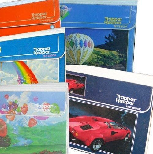 School binders - Trapper Keepers. I had a panda bear one.