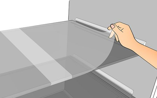 Use Press 'N Seal wrap to line the surfaces in your fridge.   28 Helpful Cleaning Tips For Incredibly Lazy People