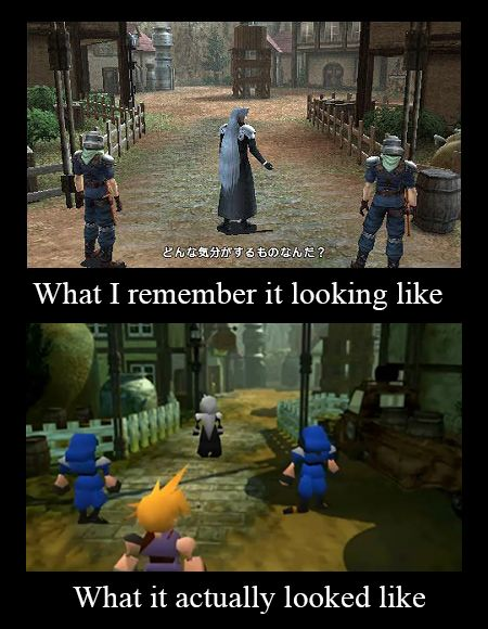 Revisited Final Fantasy 7 - memory is different #Fun