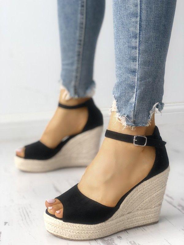 3474b43abe3f0 Ankle Strap Espadrille Wedge Sandals