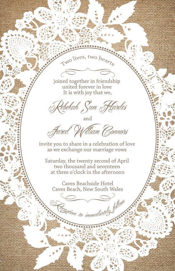 221 best Wedding Invitations images on Pinterest | Invitation ...