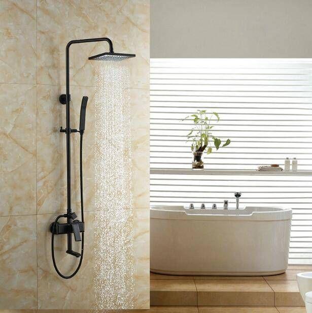 Wall Mount Good Quality Bathroom Rain Shower Mixer Faucet Set