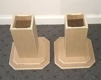Dorm Room Bed Risers 10 Inch All Wood Construction Unfinished Square Design Raise Furniture Create St With Images Raised Bed Frame Wooden Door Stops Dorm Room Bedding
