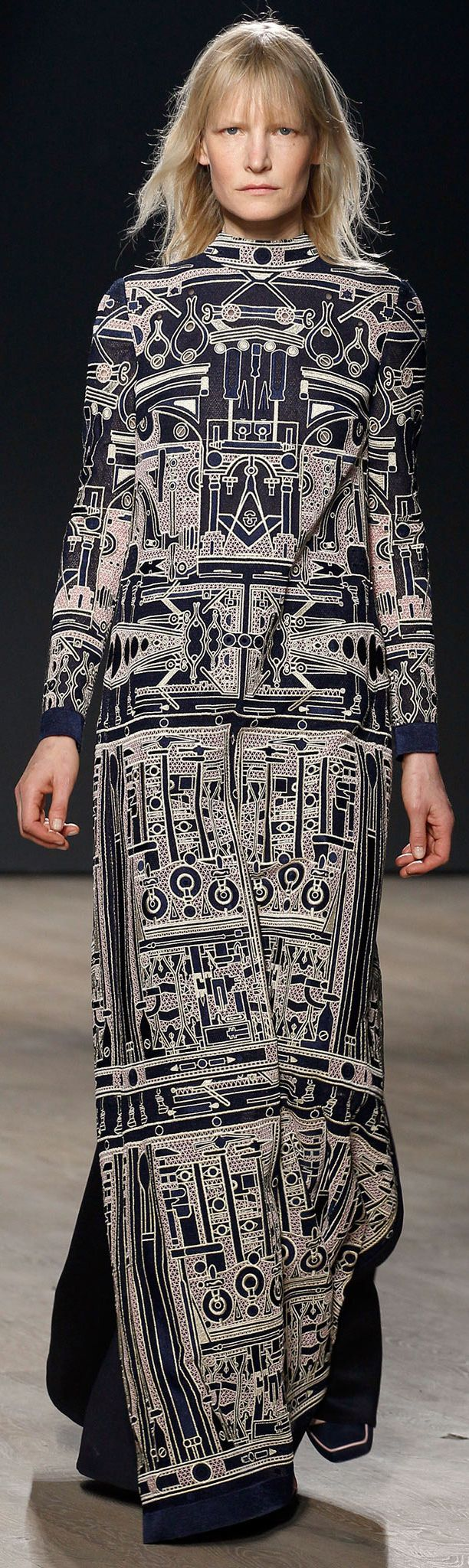 Mary Katrantzou - Fall 2014. I like this print, but there's A LOT of dress there. I think I'd prefer a sleeveless version, maybe even a midi or mini length….