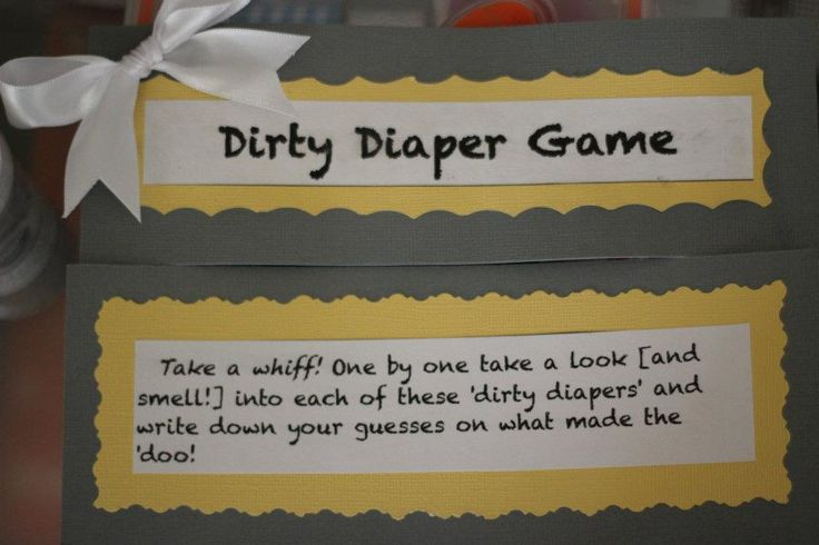dirty diaper smelling baby shower game baby shower planning