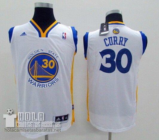 Camiseta Niños Golden State Warriors Blanco #30 Curry  €21.9