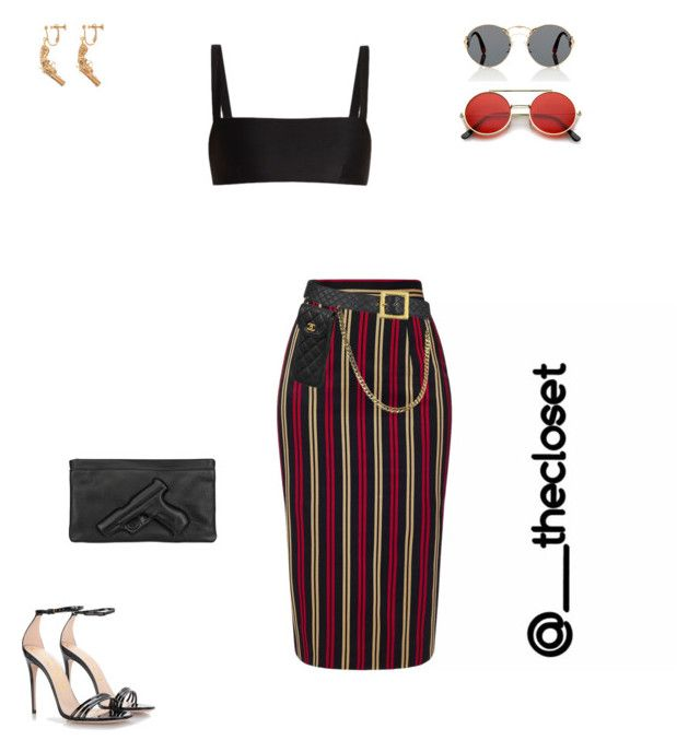 """""""Untitled #173"""" by thecloset9 ❤ liked on Polyvore featuring MICHEL KLEIN, Matteau, Chanel, Yves Saint Laurent, Gucci, Prada, ZeroUV and Vlieger & Vandam"""