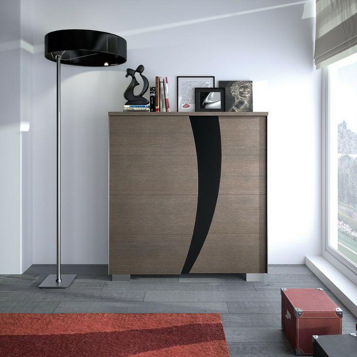 S jour new york meuble de rangement 2 portes for Porte coulissante salon 140 cm
