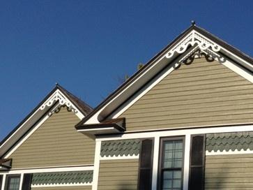 15 best gable trim images on pinterest gable trim for Exterior house brackets