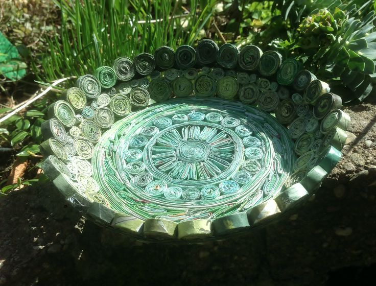 bowl of recycled newspaper