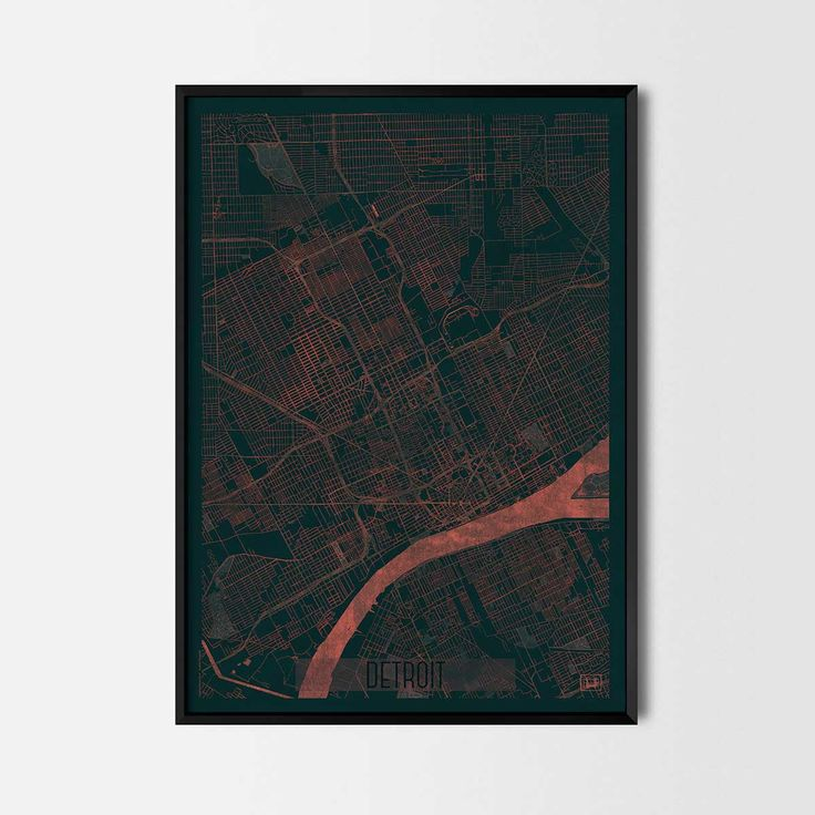 Detroit city posters Art posters and